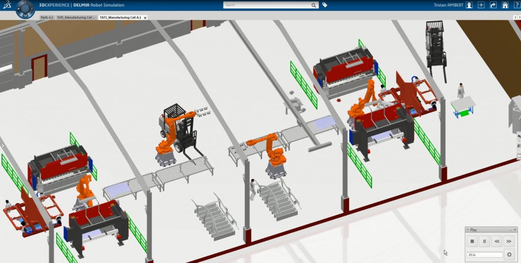 Robot simulation with 3DEXPERIENCE